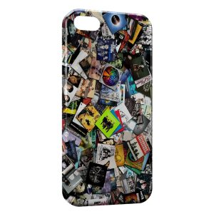 Coque iPhone 4 & 4S Rock Music CDs