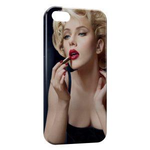 Coque iPhone 4 & 4S Scarlett Johansson Rouge a lèvres