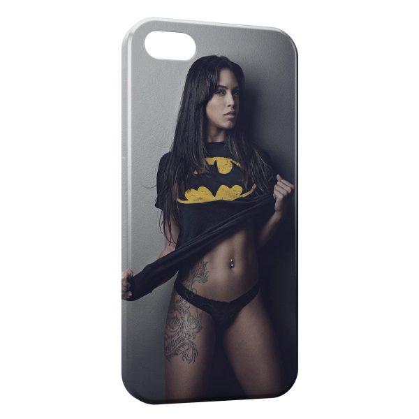 Coque iPhone 4 & 4S Sexy Girl Batman