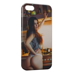 Coque iPhone 4 & 4S Sexy Girl Cuisine