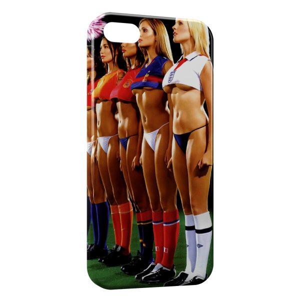 Coque iPhone 4 & 4S Sexy Girl Football Team