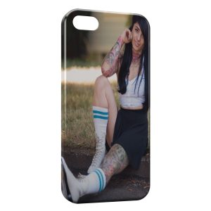 Coque iPhone 4 & 4S Sexy Girl Roller