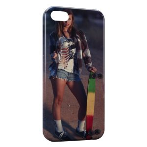 Coque iPhone 4 & 4S Sexy Girl Skate 2