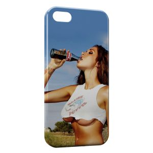 Coque iPhone 4 & 4S Sexy Girl & Soda