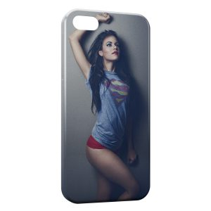Coque iPhone 4 & 4S Sexy Girl Superman 5