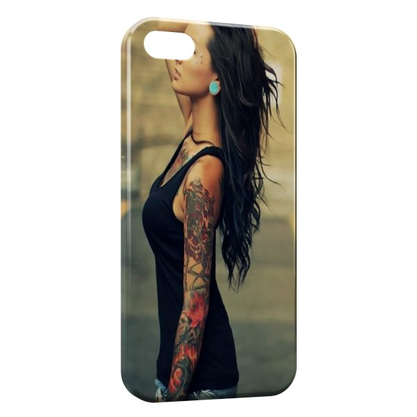 Coque iPhone 4 & 4S Sexy Girl Tattoo