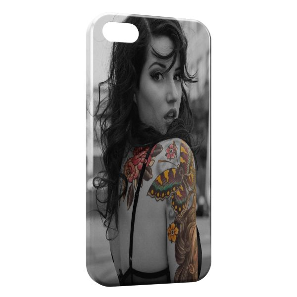 Coque iPhone 4 & 4S Sexy Girl Tattoo 3