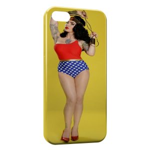Coque iPhone 4 & 4S Sexy Girl Wonder woman 2