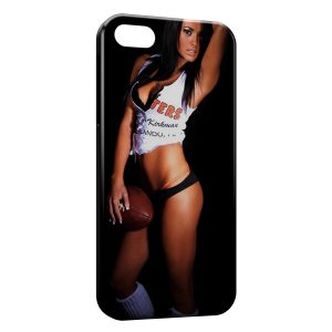 Coque iPhone 4 & 4S Sexy Girl football américain
