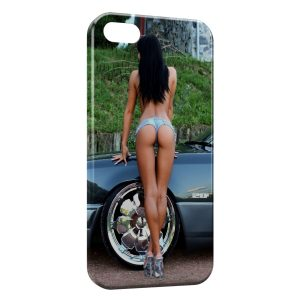 Coque iPhone 4 & 4S Sexy Girl voiture tunning