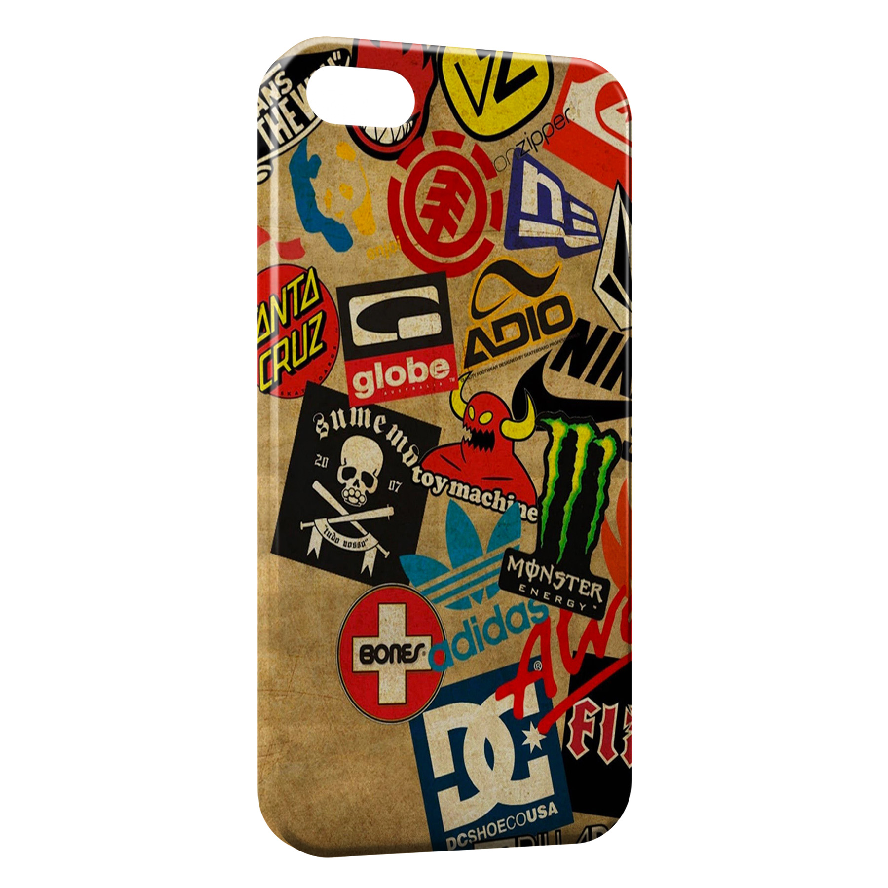 Coque iPhone 4 4S Skateboard marques