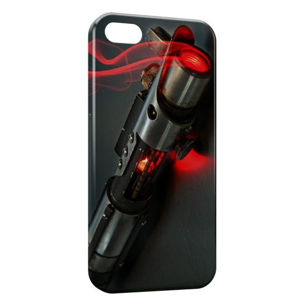 Coque iPhone 4 & 4S Star Wars Sabre Laser Rouge Dark Jedi