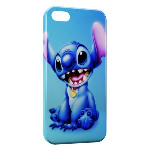 Coque iPhone 4 & 4S Stitch Blue Background