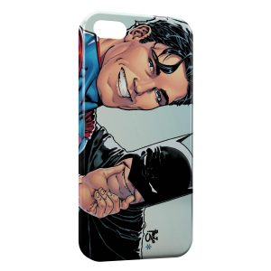 Coque iPhone 4 & 4S Superman & Batman Smile