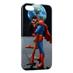 Coque iPhone 4 & 4S Superman & Super Girl