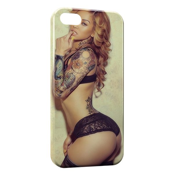 Coque iPhone 4 & 4S Tattoo Sexy Girl 2