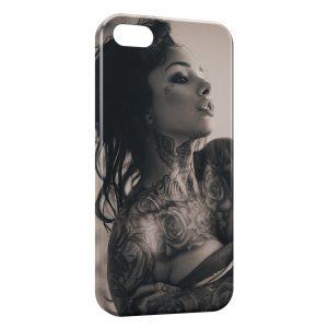 Coque iPhone 4 & 4S Tattoo sexy girl