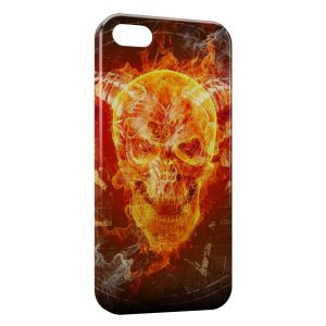 Coque iPhone 4 & 4S Tete de mort in Fire