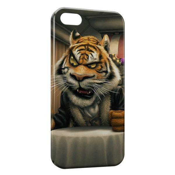 Coque iPhone 4 & 4S Tiger Cartoon