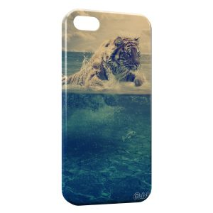Coque iPhone 4 & 4S Tiger in the Sea