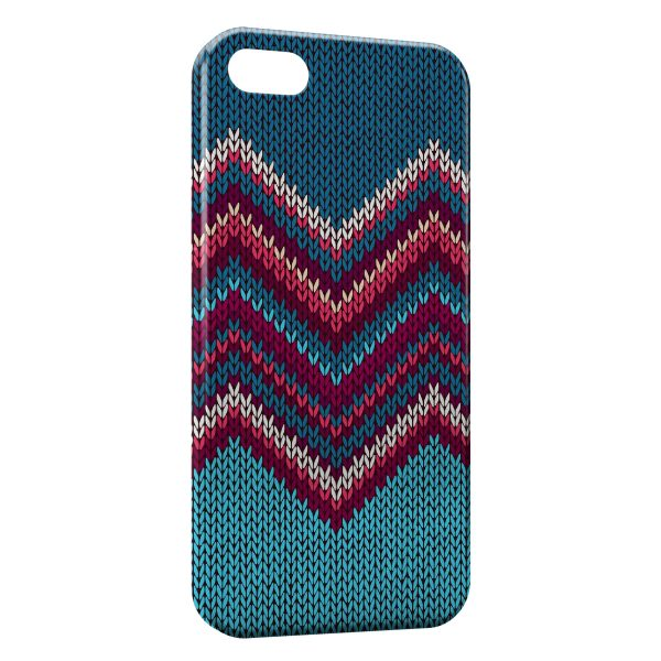 Coque iPhone 4 & 4S Tricot Art Design Hippie