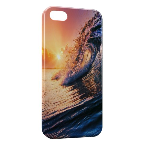 Coque iPhone 4 & 4S Vague & Soleil