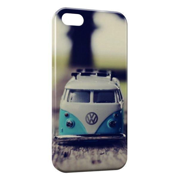 Coque iPhone 4 & 4S Volkswagon Van Blue Vintage