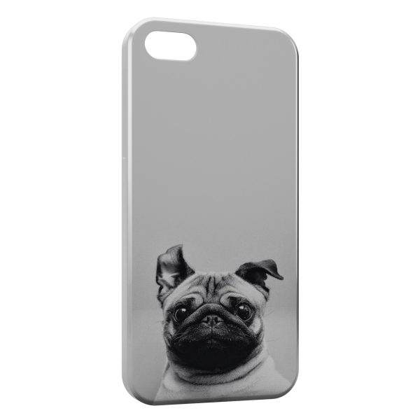 Coque iPhone 6 & 6S Chien Bulldog Cute Black White