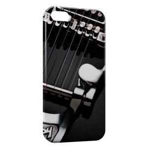 Coque iPhone 6 & 6S Cordes Guitare Black & White