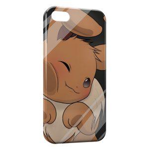 Coque iPhone 6 & 6S Evoli Pokemon Vitre Glace