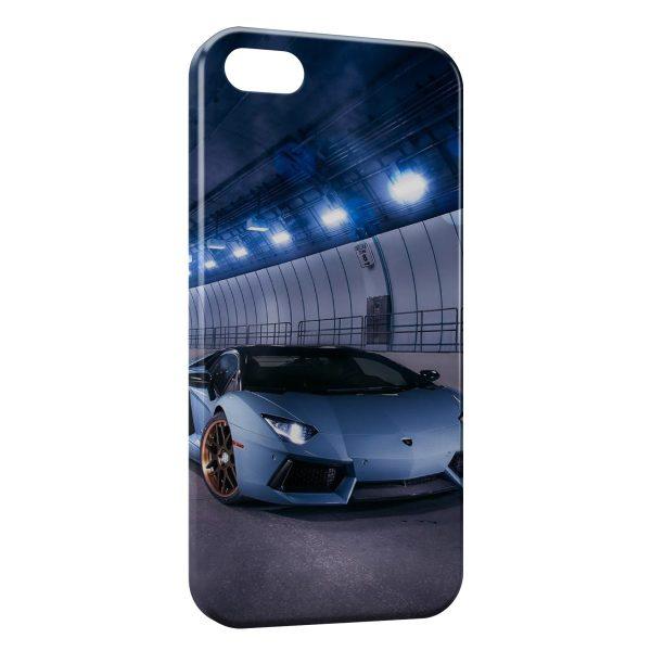 Coque iPhone 6 & 6S Lamborghini Bleue Voiture