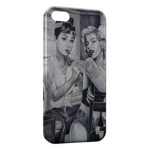 Coque iPhone 6 & 6S Marilyn Monroe et Audrey Hepburn