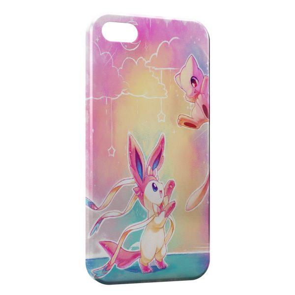 Coque iPhone 6 6S Pikachu Mewtwo Pokemon Art 600x600