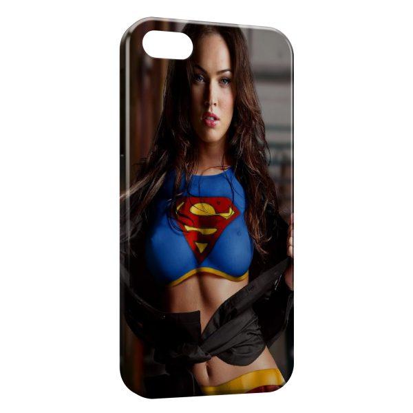 Coque iPhone 6 & 6S Sexy Girl Megan Fox Superman