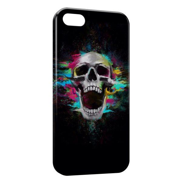 Coque iPhone 6 & 6S Tete de Mort Colors in Black