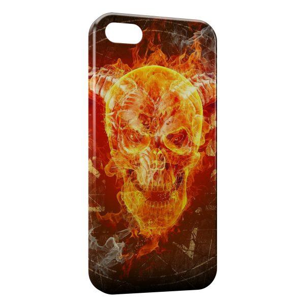 Coque iPhone 6 & 6S Tete de Mort Fire Feu