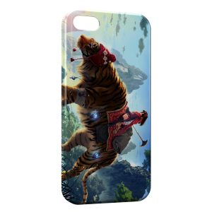 Coque iPhone 6 & 6S Tiger & Manga Girl