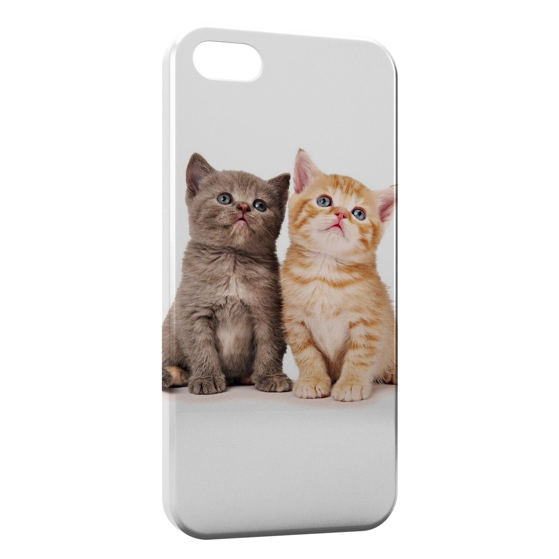 Coque iPhone 7 7 Plus 2 Chats Mignons