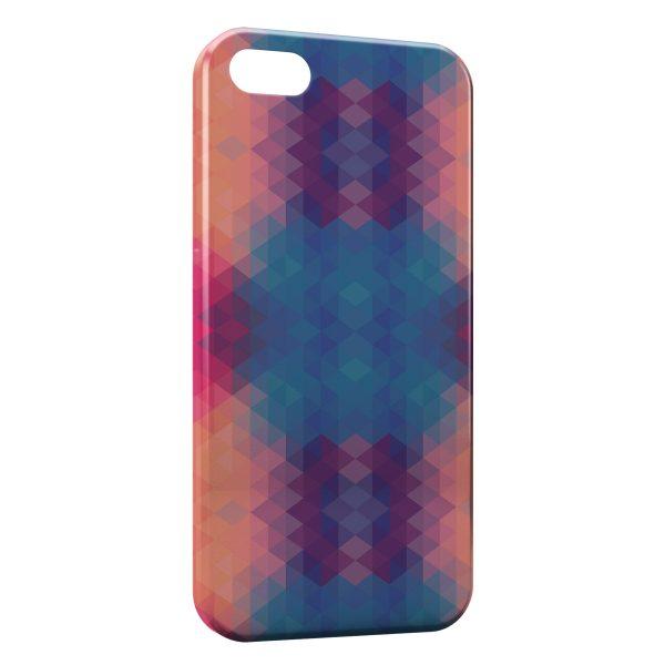 Coque iPhone 7 & 7 Plus 3D Blue & Orange Colors