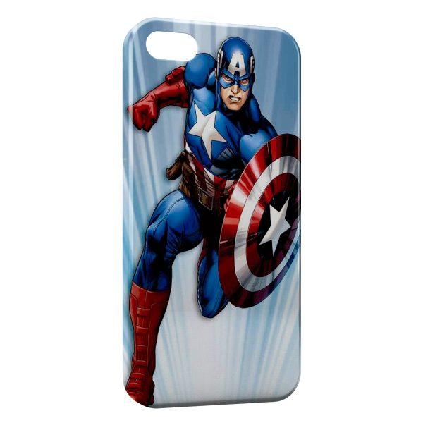 Coque iPhone 7 & 7 Plus Advenger Captain America USA