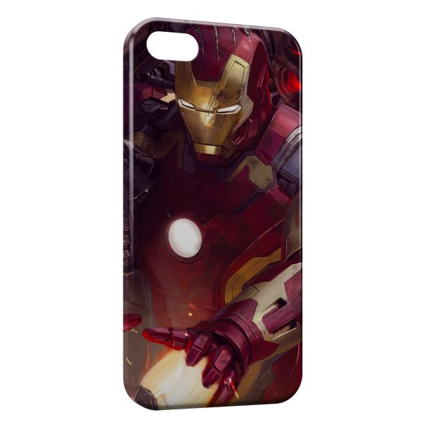 Coque iPhone 7 & 7 Plus Advengers Iron Man Red