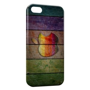 Coque iPhone 7 & 7 Plus Apple sur bois