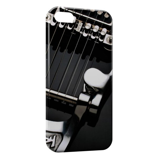 Coque iPhone 7 & 7 Plus Cordes Guitare Black & White