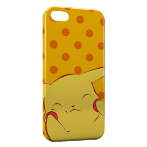 Coque iPhone 7 & 7 Plus Cute Pikachu Pokemon Yellow
