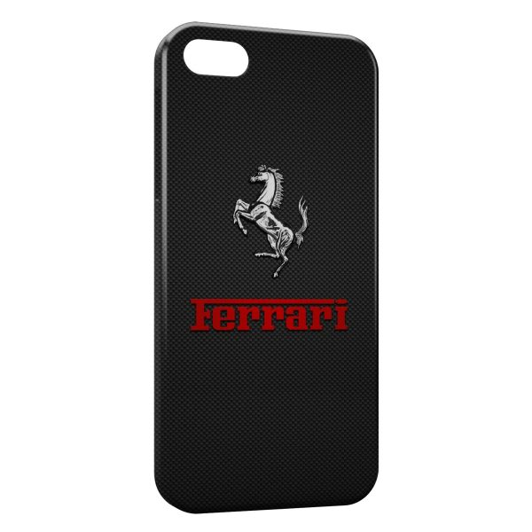 Coque iPhone 7 & 7 Plus Ferrari Cheval Grey Logo 4