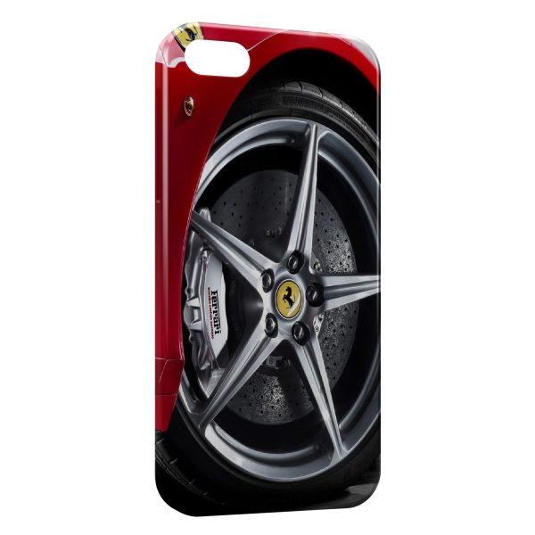 Coque iPhone 7 & 7 Plus Ferrari Roue Jante Rouge Silver 5