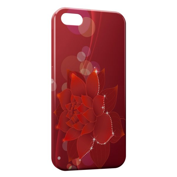 coque iphone 7 fleur rouge