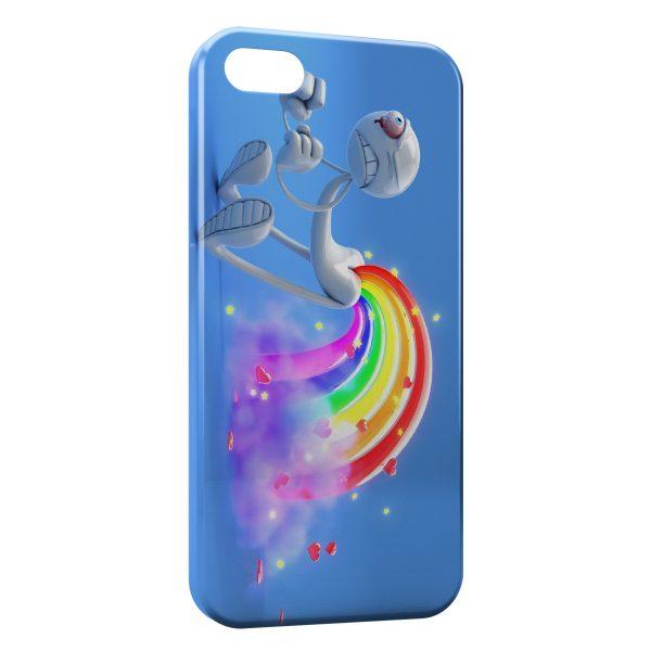 Coque iPhone 7 & 7 Plus Fun Cartoon Arc en Ciel
