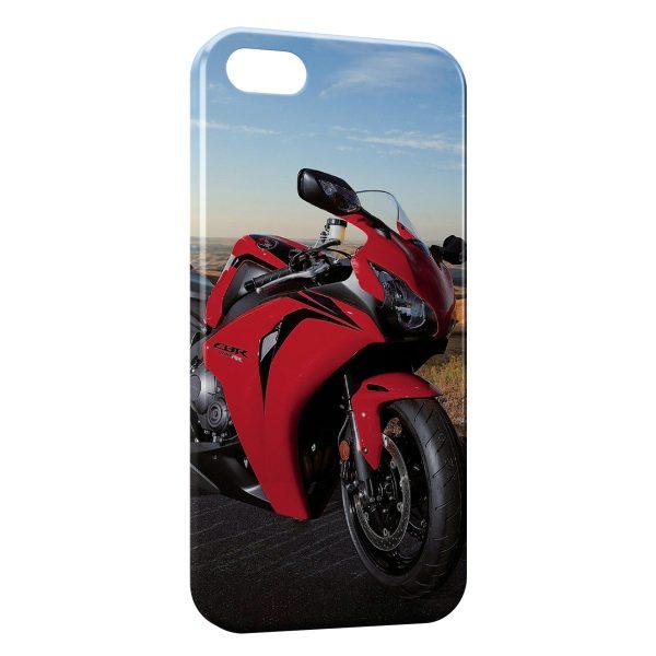 Coque iPhone 7 & 7 Plus Honda cbr 1000rr Rouge Moto