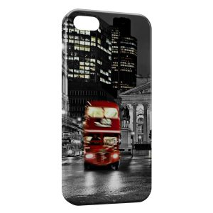 Coque iPhone 7 & 7 Plus Londres Bus London Rouge Black & White